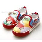 รองเท้าเด็กสกรีนลายรถสีแดง-(6-คู่/แพ็ค)