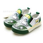 รองเท้าเด็กสกรีนลายรถ-สีเขียว-(6-คู่/แพ็ค)