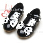 รองเท้าเด็กโบว์จุด-สีดำ-(5-คู่/แพ็ค)