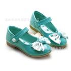 รองเท้าเด็กโบว์จุด-สีฟ้า-(6-คู่/แพ็ค)