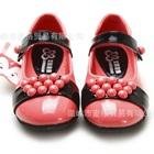 รองเท้าเด็กเจ้าหญิงลูกปัด-สีแดงแตงโม-(5-คู่/แพ็ค)