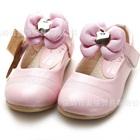 รองเท้าเด็กดอกไม้บาน-สีชมพูสว่าง-(6-คู่/แพ็ค)