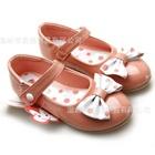 รองเท้าเด็กโบว์จุด-สีชมพูเข้ม-(6-คู่/แพ็ค)