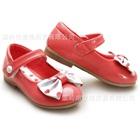 รองเท้าเด็กโบว์จุด-สีแดงแตงโม-(6-คู่/แพ็ค)