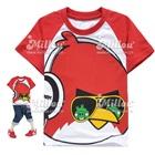 เสื้อยืดแขนสั้น-Angry-Bird-สีแดงขาว-(6size/pack)