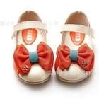 รองเท้าเด็ก-Cherry-Maruko-bow-สีส้ม-(5-คู่/แพ็ค)