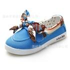 รองเท้าเด็กผูกโบว์ลาย-สีฟ้า-(5-คู่/แพ็ค)