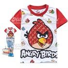 เสื้อยืดแขนสั้น-Angry-Bird-สีขาว-(6size/pack)