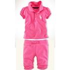 เซ็ตเสื้อกางเกง-Polo-สีชมพูบานเย็น-(5-ตัว/pack)