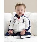 เซ็ตเสื้อกางเกง-Polo-สีขาวน้ำเงิน-(5-ตัว/pack)