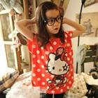 เสื้อแขนสั้น-Hello-Kitty-สีแดง-(5size/pack)