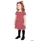 เดรสแขนสั้นลายจุด-Minnie-สีแดง-(10-ตัว/pack)