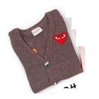 คาร์ดิแกนแขนยาว-sweetheart-สีม่วง-(5-ตัว/pack)