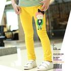 กางเกงขายาวตุ๊กตาเด็กหญิง-สีเหลือง-(5-ตัว/pack)