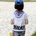 เสื้อยืดแขนสั้นแฟชั่น-สีขาว-(5size/pack)