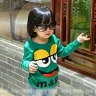 เสื้อยืดแขนยาว-M-แอนด์-M-สีเขียวเข้ม-(5size/pack)