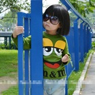 เสื้อยืดแขนยาว-M-แอนด์-M-สีแขียวอ่อน-(5size/pack)