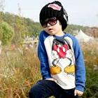 เสื้อยืดแขนยาว-Mickey-แขนสีน้ำเงิน-(4size/pack)