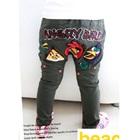กางเกงขายาว-Angry-Bird-สีเขียวเข้ม-(4-ตัว/pack)