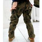 กางเกงขายาวลายทหารสีเขียว-(4-ตัว/pack)