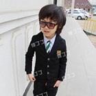 เสื้อสูทแขนยาวหนุ่มอังกฤษ-สีดำ-(4-ตัว/pack)