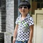 เสื้อเชิ๊ตแขนสั้นลายจุดสีขาว-(5-ตัว/pack)