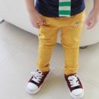 กางเกงขายาวซิปข้างที่กระเป๋า-สีเหลือง-(5-ตัว/pack)