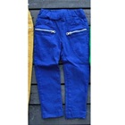 กางเกงขายาวซิปข้างที่กระเป๋า-สีน้ำเงิน(5-ตัว/pack)