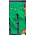 กางเกงขายาวซิปข้างที่กระเป๋า-สีเขียว-(5-ตัว/pack)
