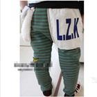 กางเกงขายาวลายขวาง-LZK-สีเขียวเทา-(5-ตัว/pack)