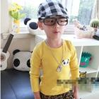 เสื้อแขนยาวหมีแพนด้า-สีเหลือง-(5-ตัว/pack)