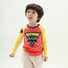 เสื้อแขนยาว-Batman-แขนสีเหลือง-(4size/pack)