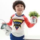 เสื้อแขนยาว-Batman-แขนสีแดง(4size/pack)
