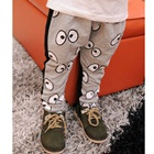 กางเกงขายาวตาคู่โต-สีเทา-(4size/pack)