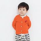 คาร์ดิแกนแขนยาวหัวใจแดง-สีส้ม-(4size/pack)