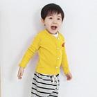 คาร์ดิแกนแขนยาวหัวใจแดง-สีเหลือง-(4size/pack)