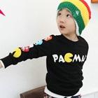 เสื้อแขนยาว-Pacman-สีดำ-(4size/pack)