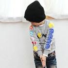 เสื้อแขนยาว-Pacman-สีเทา-(4size/pack)