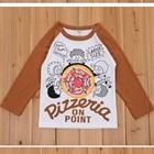 เสื้อแขนยาว-Pizzeria-แขนสีน้ำตาล-(5size/pack)