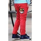กางเกงขายาวเสื้อยิ้มหวาน-สีแดง-(4size/pack)