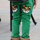 กางเกงขายาวเสื้อยิ้มหวาน-สีเขียว(4size/pack)