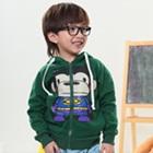 เสื้อกันหนาวแขนยาวลิงยิ้ม-สีเขียว-(4size/pack)