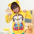 เสื้อกันหนาวแขนยาวลิงยิ้ม-สีเหลือง-(4size/pack)