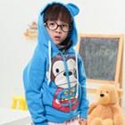 เสื้อกันหนาวแขนยาวลิงยิ้ม-สีฟ้า-(4size/pack)