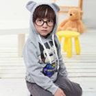 เสื้อกันหนาวแขนยาวลิงยิ้ม-สีเทา-(4size/pack)