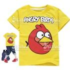เสื้อยืดแขนสั้น-Angry-Bird-สีเหลือง-(6size/pack)
