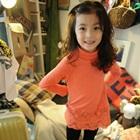 เดรสแขนยาวระบายลูกไม้-สีส้ม-(5-ตัว/pack)