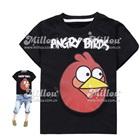เสื้อยืดแขนสั้น-Angry-Bird-สีดำ-(6size/pack)