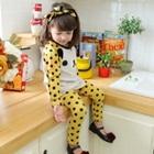 เซ็ตเสื้อกางเกงหมีน้อยลายจุด-สีเหลือง-(5-ตัว/pack)