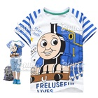 เสื้อยืดแขนสั้น-Locomotive-สีขาวฟ้า(6size/pack)